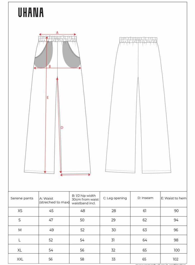 Uhana - Serene Pants Size Cart