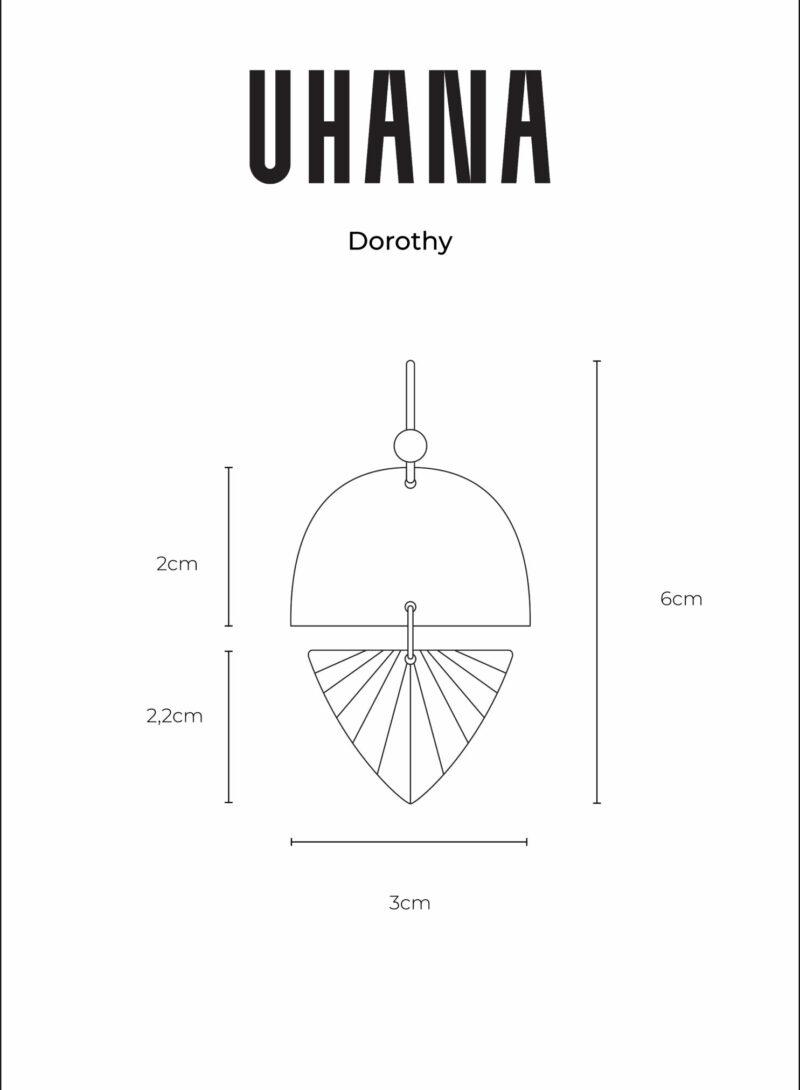 Uhana - Dorothy Earrings Size Chart