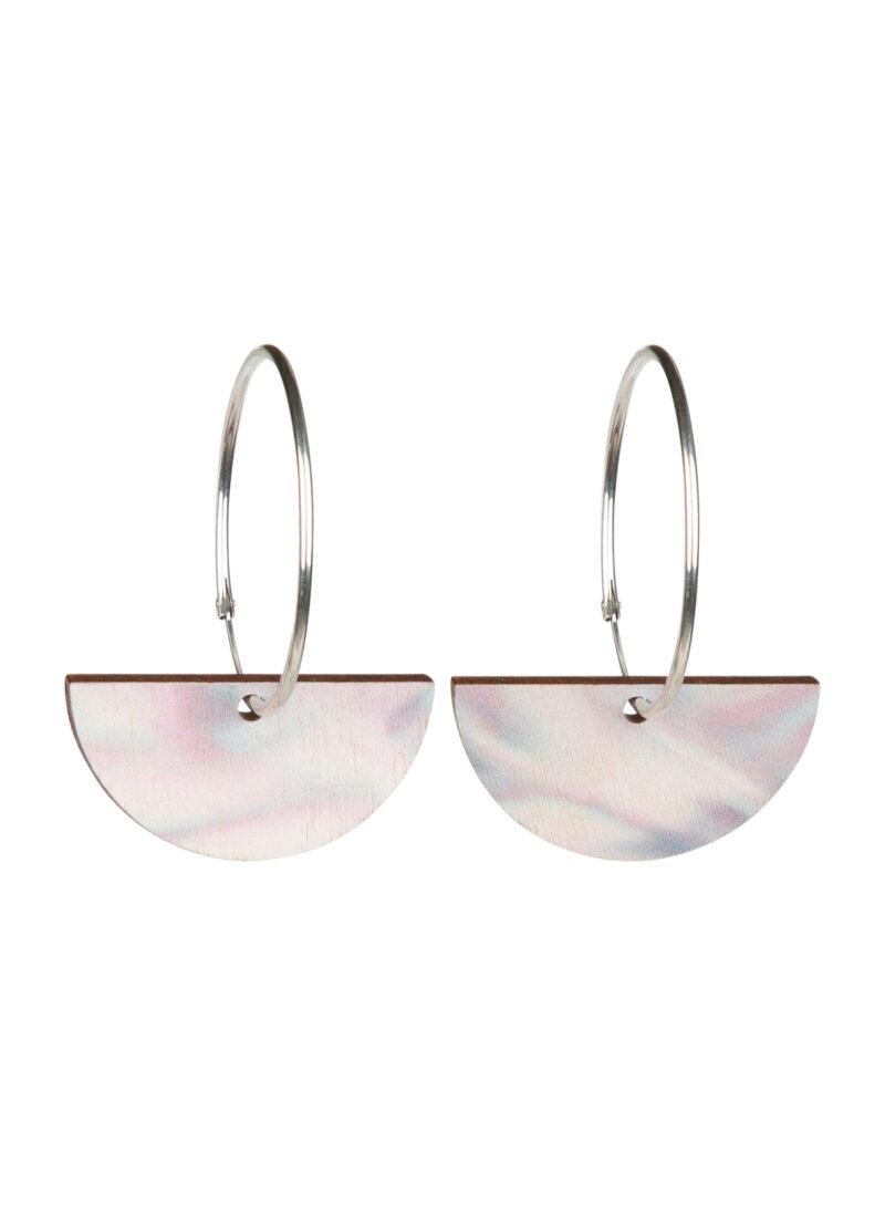 Uhana - Chrysalis earrings, Silver Grey