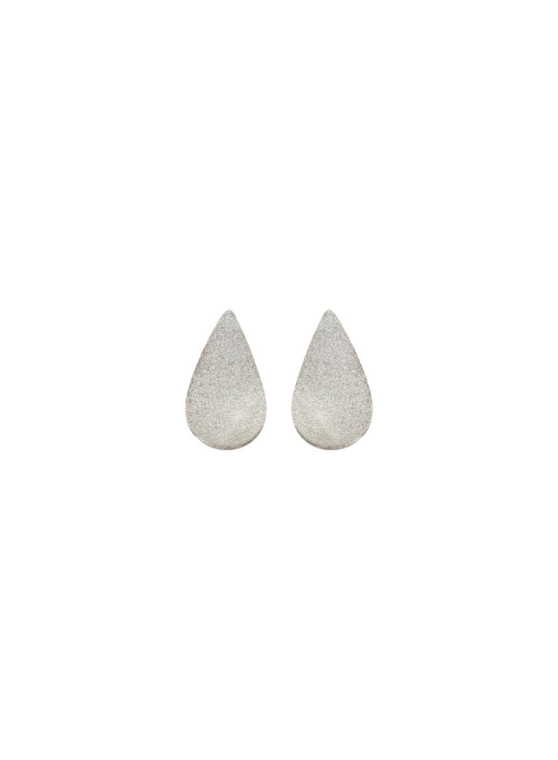 Uhana - Petite Drop Stud Earrings, Silver