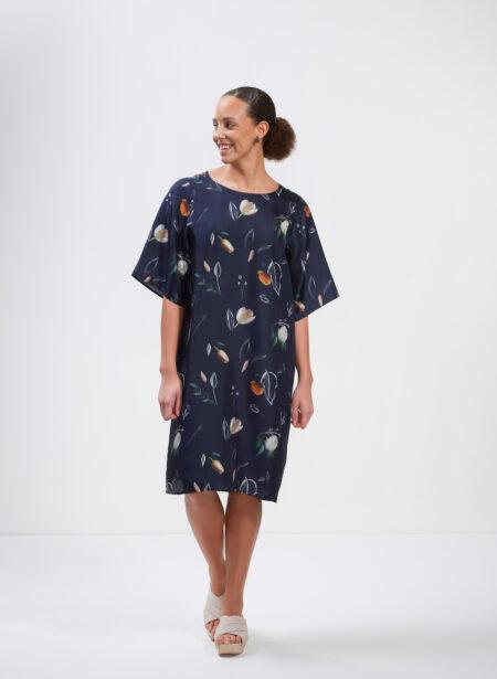 Uhana - Delight Dress, Summer Wind Dark Blue