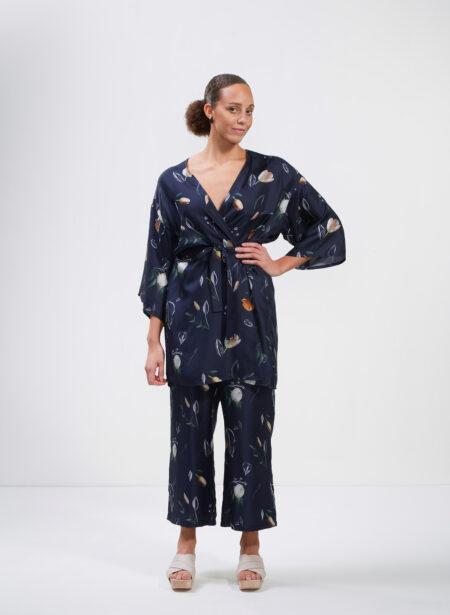 Uhana - Imagination Kimono & Serene Housut, Summer Wind Dark Blue