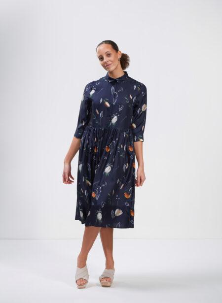 Uhana - Sincere Dress, Summer Wind Dark Blue