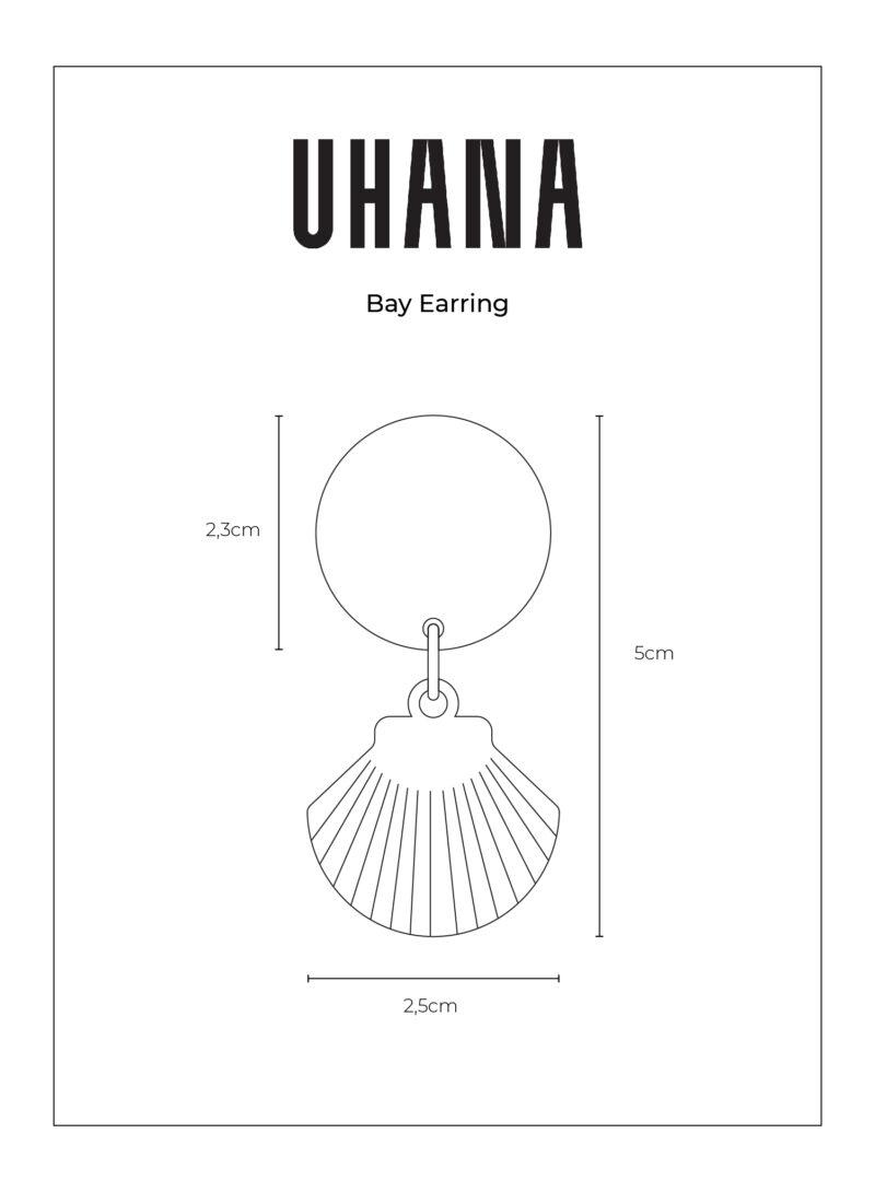 Uhana - Bay Earring Size Chart