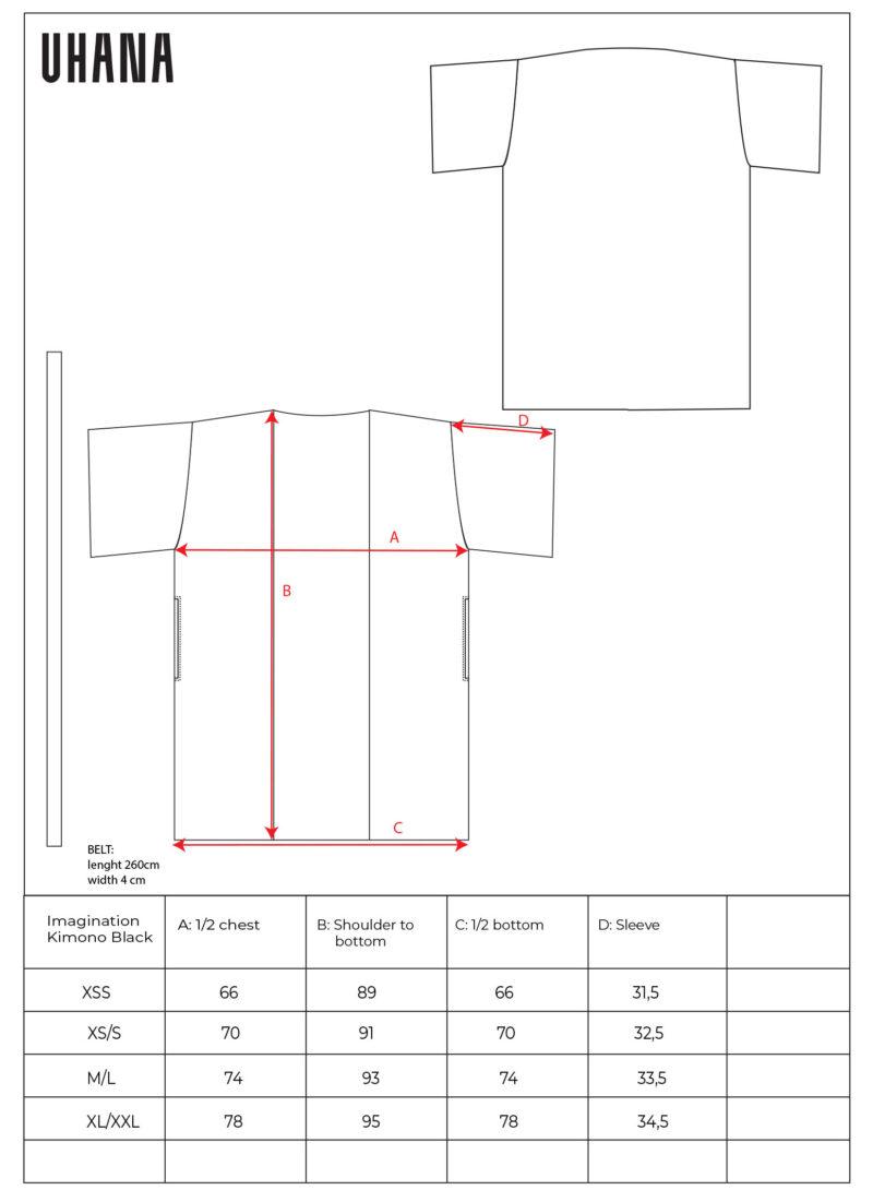 Uhana - Imagination Kimono Size Cart