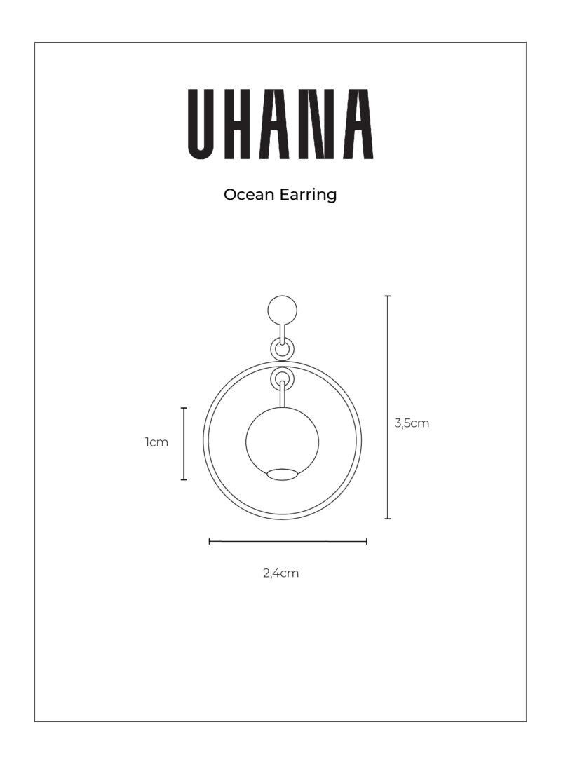 Uhana - Ocean Earring Size Chart
