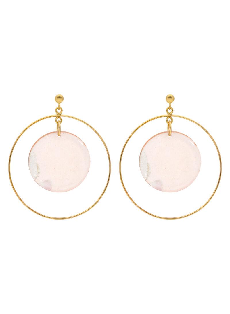 Uhana - Rose Earrings, Champagne