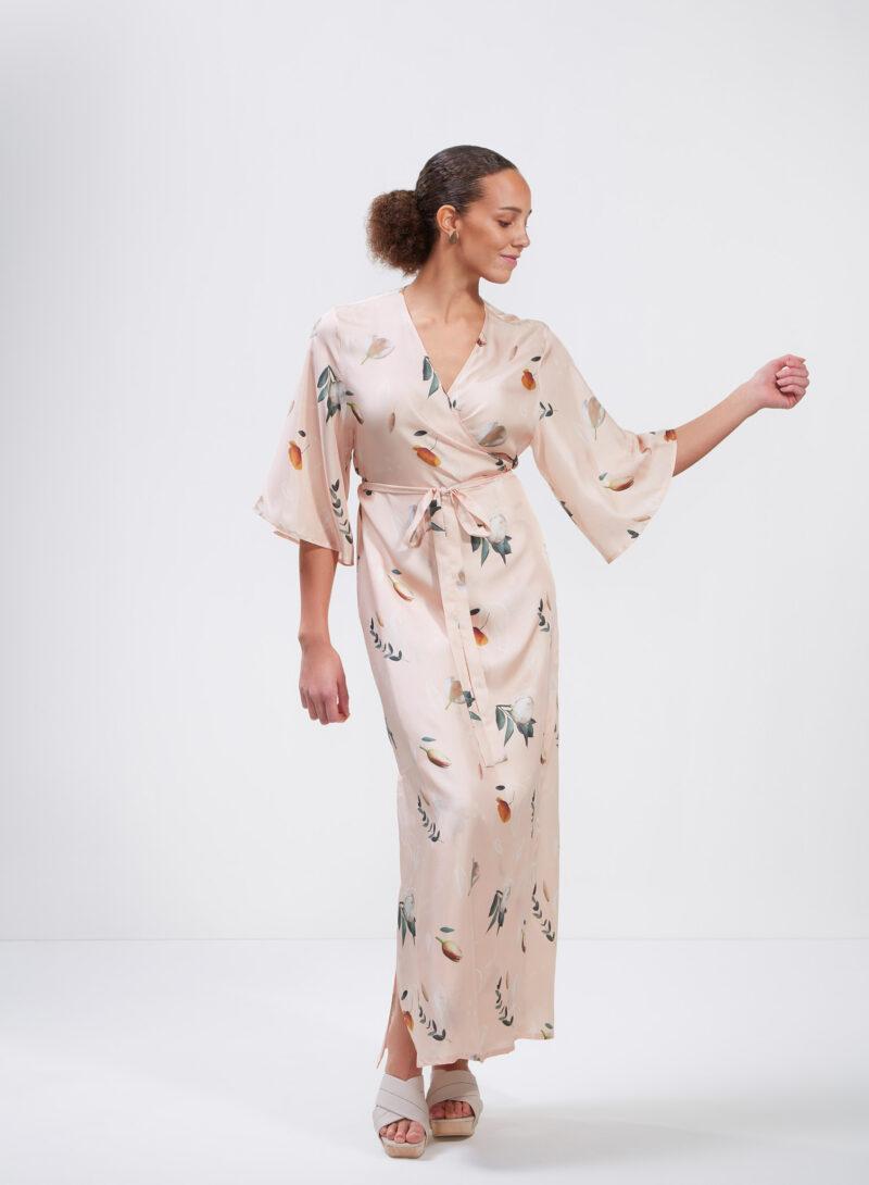 Uhana - Compassionate Wrap Dress, Summer Wind Champagne