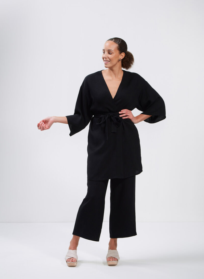Uhana - Imagination Kimono & Serene Pants, Black
