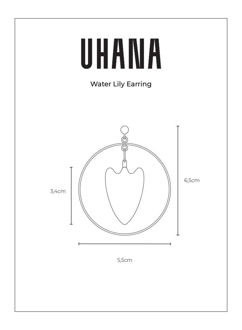 Uhana - Water Lily Korvakoru Mittakuva