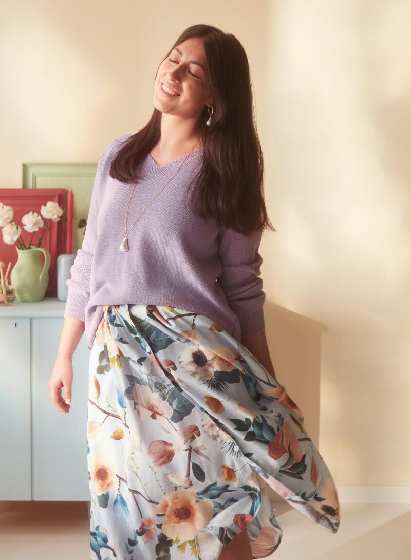 Uhana - Harmony Jumper Lilac & Cotton Candy Skirt Better Days Light Blue & Sacred Necklace