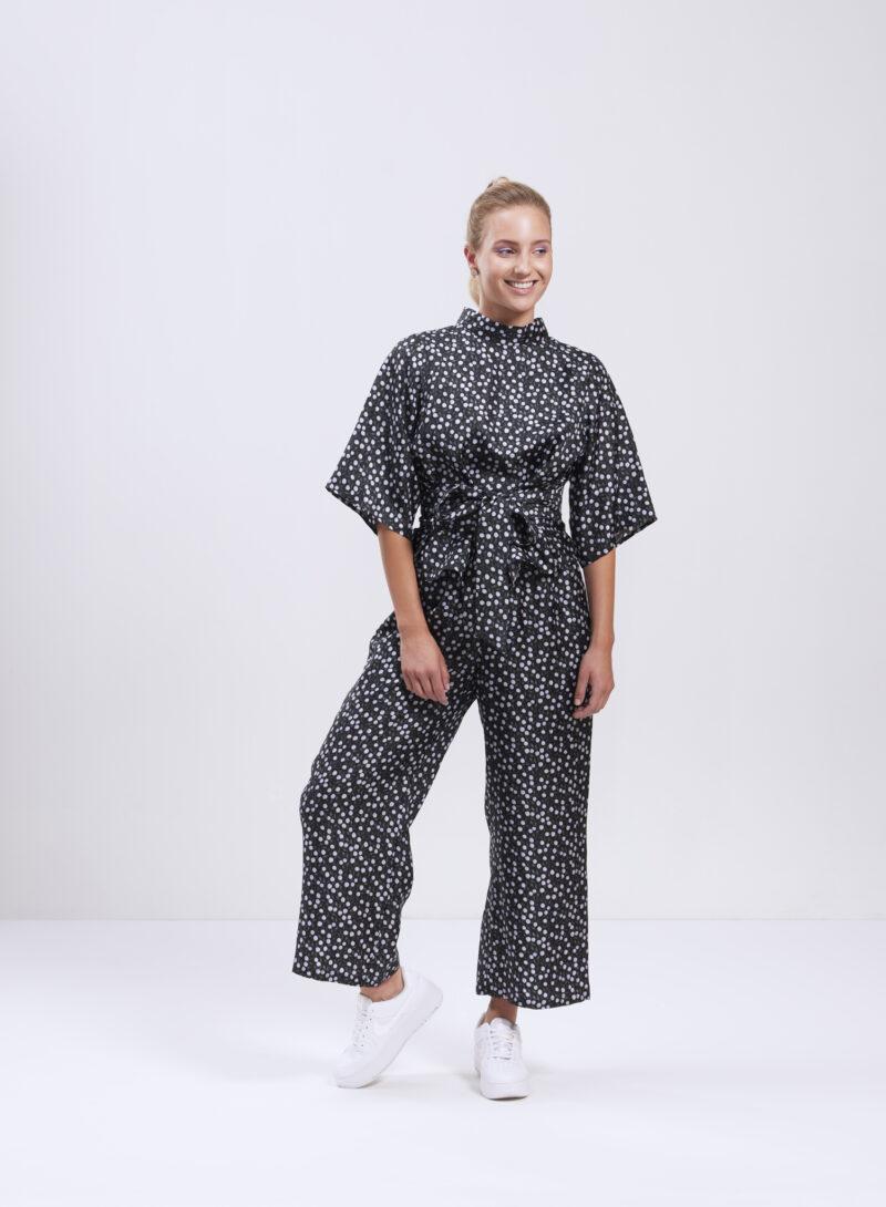 Uhana - Freedom Silkkipusero & Serene Silkkihousut, Joy Black