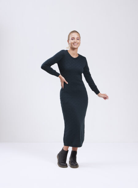 Uhana - Mirage Knit Dress, Dark Green